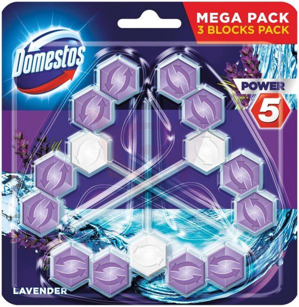 domestos power 5 koszyk do wc lavender 3 x 55 g