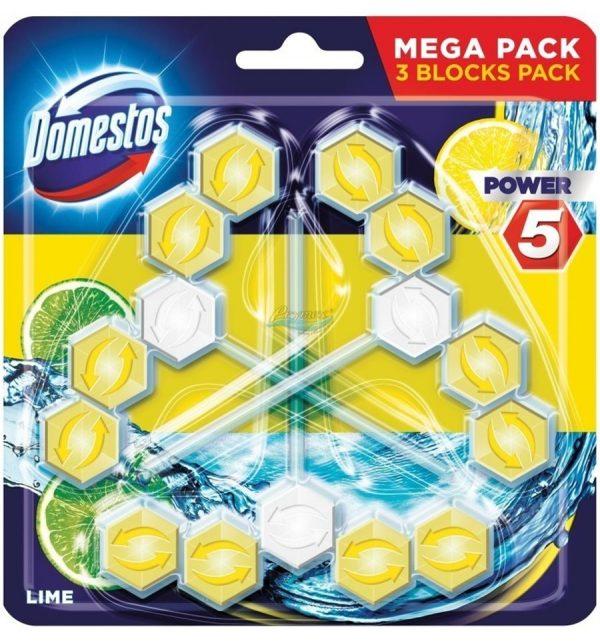 domestos zawieszka do wc power 5 limonka 3 x 55 g