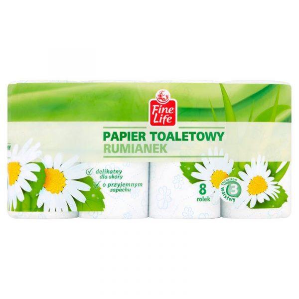 fine life papier toaletowy 3 warstwowy rumianek 8 rolek